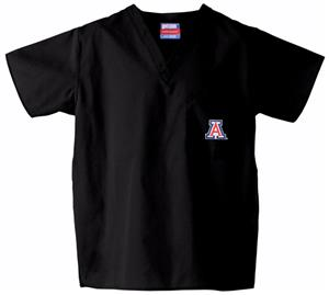 University of Arizona Black Classic Scrub Tops