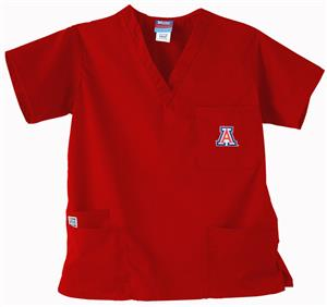 University of Arizona Red 3-Pocket Scrub Tops