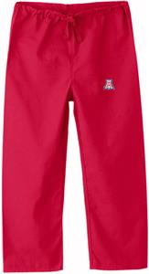 University of Arizona Kid&#39;s Red Scrub Pants