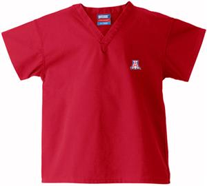 University of Arizona Kid's Red Scrub Tops