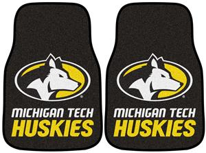 Fan Mats Michigan Tech Carpet Car Mats (set)