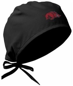 Univ of Arkansas Razorbacks Black Surgical Caps