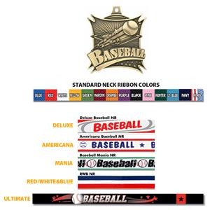 Hasty Awards  Xtreme Baseball Medals M-701