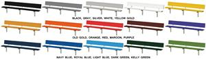 Porter Aluminum Stationary Bench with Back