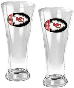 NFL Kansas City Chiefs 2 Piece Pilsner Glass Set