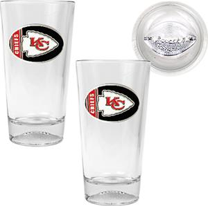NFL Kansas City Chiefs 2 Piece Pint Glass Set