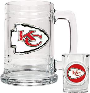 NFL Kansas City Chiefs Boilermaker Gift Set