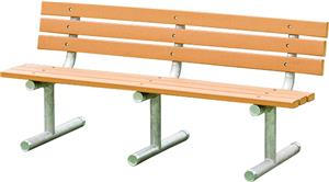 Porter Recycled Plastic Plank 6&#39; Bench