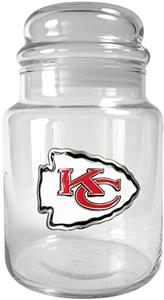 NFL Kansas City Chiefs Glass Candy Jar
