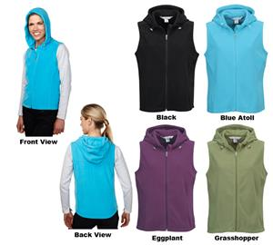 TRI MOUNTAIN Luna Women&#39;s Micro Fleece Hooded Vest