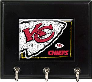 NFL Kansas City Chiefs Wood Keyhook Rack