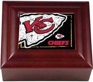NFL Kansas City Chiefs Mahogany Keepsake Box