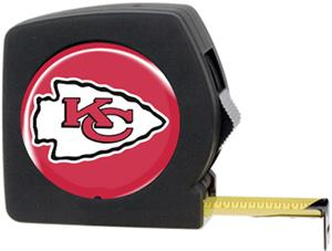 NFL Kansas City Chiefs 25' Tape Measure with Logo