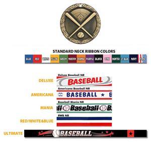 "Hasty Awards Baseball 2"" Medals"