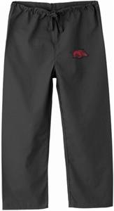 Univ of Arkansas Razorbacks Kid's Black Scrub Pant
