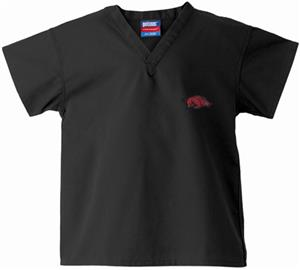 Univ of Arkansas Razorbacks Kid's Black Scrub Tops