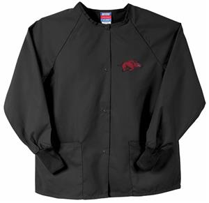 Univ of Arkansas Razorbacks Black Nursing Jackets