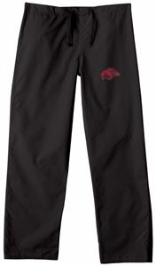 Univ of Arkansas Razorbacks Black Scrub Pants