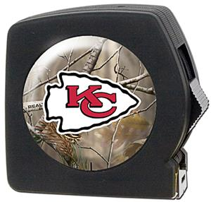 NFL Kansas City Chiefs 25' RealTree Tape Measure