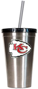 NFL Kansas City Chiefs 16oz Tumbler with Straw