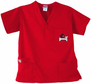 University of Arkansas Red 3-Pocket Scrub Tops