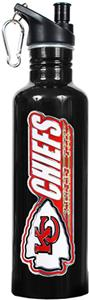 NFL Kansas City Chiefs Black Water Bottle
