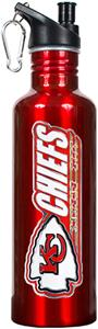 NFL Kansas City Chiefs Red Stainless Water Bottle
