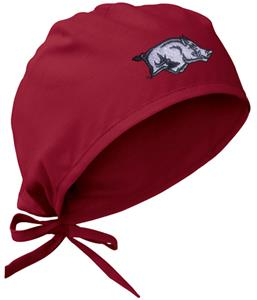 Univ of Arkansas Razorbacks Crimson Surgical Caps
