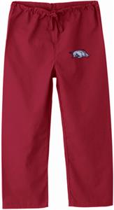 Univ of Arkansas Razorback Kids Crimson Scrub Pant