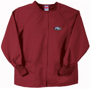 Univ of Arkansas Razorbacks Crimson Nursing Jacket