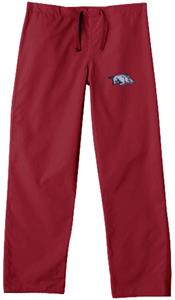 Univ of Arkansas Razorbacks Crimson Scrub Pants