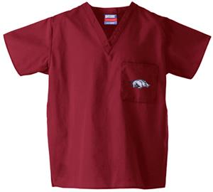 Univ of Arkansas Razorbacks Crimson Scrub Tops