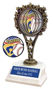 "Hasty Awards SPINNER Baseball 6.5"" Trophy"