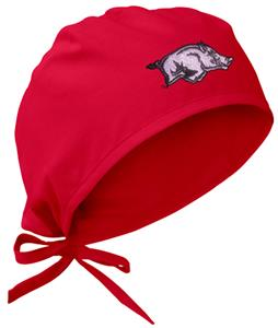 Univ of Arkansas Razorbacks Red Surgical Caps