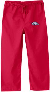 Univ of Arkansas Razorbacks Kid's Red Scrub Pants