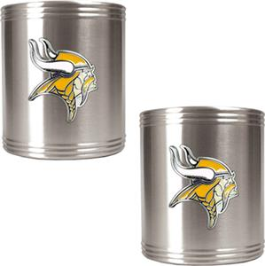 NFL Minnesota Vikings Stainless Steel Can Holders