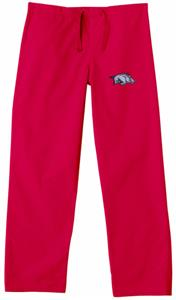 Univ of Arkansas Razorbacks Red Scrub Pants