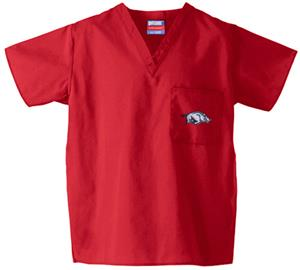 Univ of Arkansas Razorbacks Red Scrub Tops