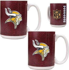NFL Minnesota Vikings Gameball Mug (Set of 2)