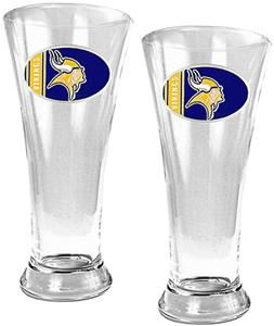 NFL Minnesota Vikings 2 Piece Pilsner Glass Set