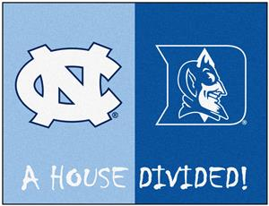 Fan Mats North Carolina/Duke House Divided Mat