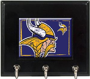 NFL Minnesota Vikings Wood Keyhook Rack