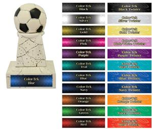Hasty Awards Soccer Stone-Like Tower Trophies