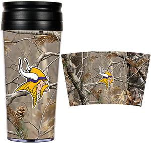 NFL Minnesota Vikings 16oz Realtree Travel Tumbler