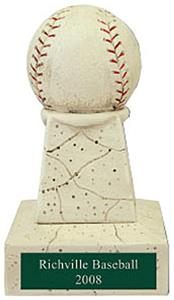 "Hasty Awards 5"" Baseball Stone Tower Trophy"