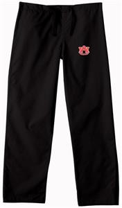 Auburn University Black Classic Scrub Pants