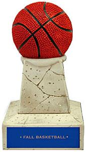 Hasty Awards Basketball Stone-Like Tower Trophies