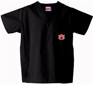 Auburn University Black Classic Scrub Tops