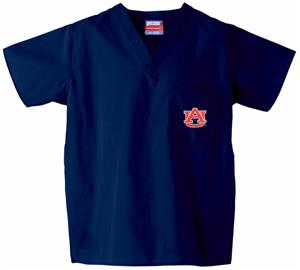 Auburn University Navy Classic Scrub Tops