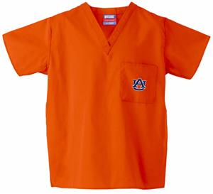 Auburn University Orange Classic Scrub Tops